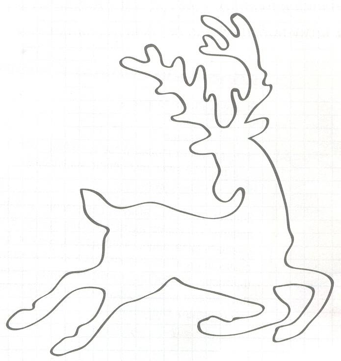 Новогодний олень своими руками трафарет