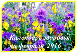 Календарь здоровья на февраль 2016