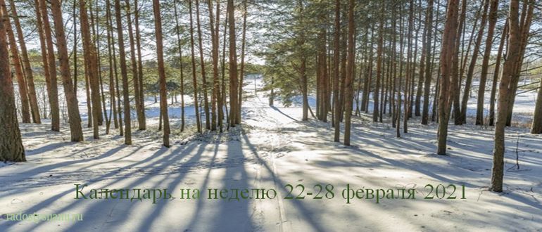 Лунный календарь на неделю 22-28 февраля 2021
